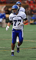 Universite de Montreal Carabins' Mathieu Razanakolona in CIS football action against the Rouge et Or at the universite Laval stadium in Quebec City, September 7, 2008. Laval won 17-6 before a crowd of 15,275.