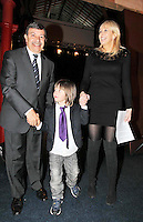 17/02/'11 RTEs Miriam O'Callaghan and her son Jamie (4) and His Excellency Mr. Amr Helmy, The Egyptyian Ambassador to Ireland pictured this afternoon after they officially opened the exhibition 'Tutankhamun: His Tomb and His Treasures' in the RDS Dublin. Tutankhamun: His Tomb and His Treasures has already delighted over 1.7 million visitors across Europe. Tickets can be bought on www.ticketmaster.ie...Picture Colin Keegan, Collins, Dublin.***NO REPRODUCTION FEE PICTURE****