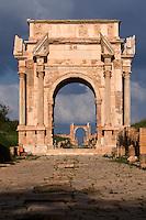 Libya, Leptis Magna Roman Ruins.