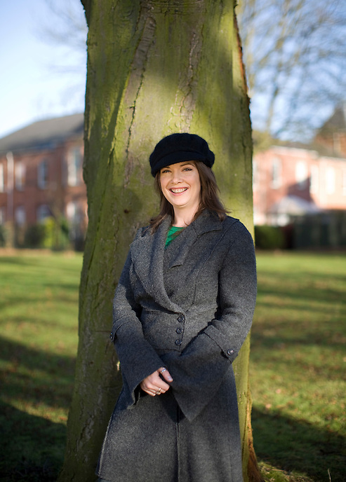 Louise Potts, self-styled 'eco-worrier' and founder  of the Naked brand of natural toiletries, at her home in Nottingham.