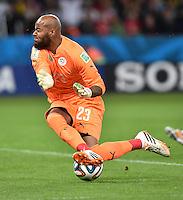 FUSSBALL WM 2014                ACHTELFINALE Deutschland - Algerien               30.06.2014 Torwart Rais M Bolhi (Algerien)