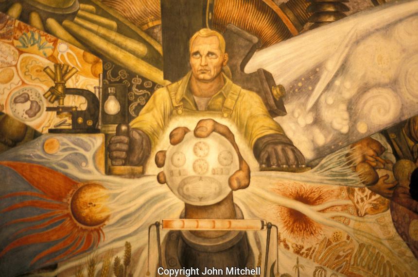 Stock photo of diego rivera murals mexico city john for Diego rivera mural new york