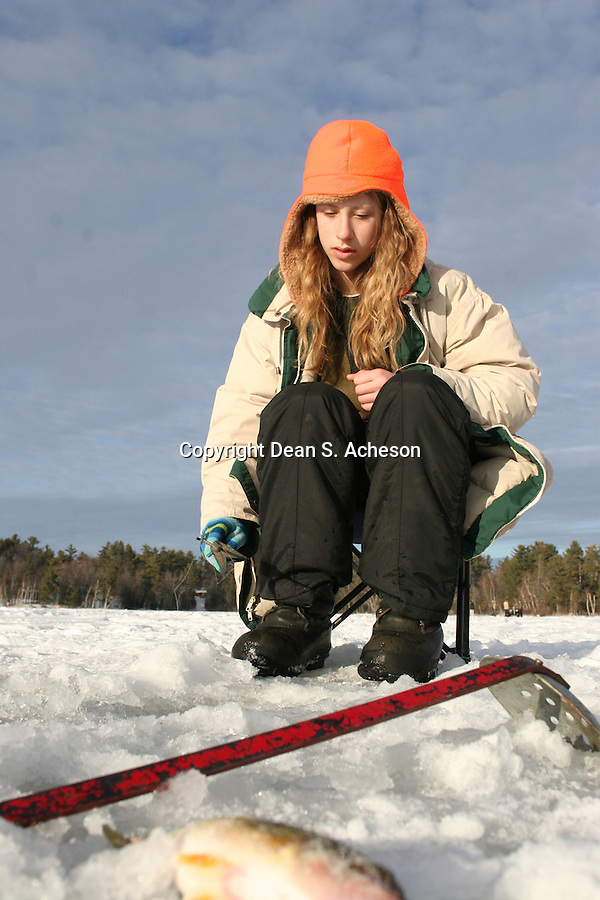 Ice fishing girls images galleries for Girl fishing pole