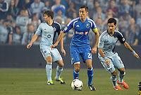 Davy Arnaud (22) midfield   Montreal Impact in action..Sporting Kansas City defeated Montreal Impact 2-0 at Sporting Park, Kansas City, Kansas.