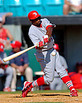 8 March 2006: Junior Spivey, infielder for the St. Louis Cardinals, at bat during a Spring Training game against the Washington Nationals. The Cardinals defeated the Nationals 7-4 in 10 innings at Space Coast Stadium, in Viera, Florida...Mandatory Photo Credit: Ed Wolfstein.