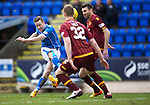 St Johnstone v Motherwell&hellip;20.02.16   SPFL   McDiarmid Park, Perth<br />Steven MacLean shoots over the bar<br />Picture by Graeme Hart.<br />Copyright Perthshire Picture Agency<br />Tel: 01738 623350  Mobile: 07990 594431