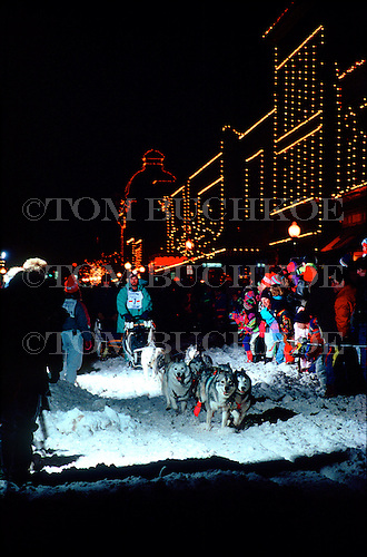 UP 200 Sled Dog Race in downtown Marquette Michigan.