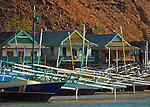 Houses and boats, Papagaran island, Komodo National Park