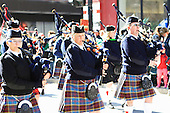 Montreal's St-Patrick's 185th parade, held in downtown Montreal on March 22nd 2009. Elgin and district pipes and bugle band