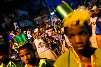 Brazilian children, wearing colorful costumes, take part in the Carnival parade in the favela of Rocinha, Rio de Janeiro, Brazil, 20 February 2012. Rocinha, the largest shanty town in Brazil and one of the most developed in Latin America, has its own samba school called GRES Academicos da Rocinha. The Rocinha samba school is very loyal to its neighborhood. Throughout the year, the entire community actively participate in rehearsals, culture events and parades related to the carnival.