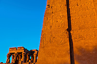 Hieroglyphics, Kom Ombo archaeological site, Nile River, Egypt