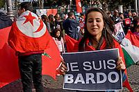 Je Suis Bardo, manifestazione della comunità Tunisina