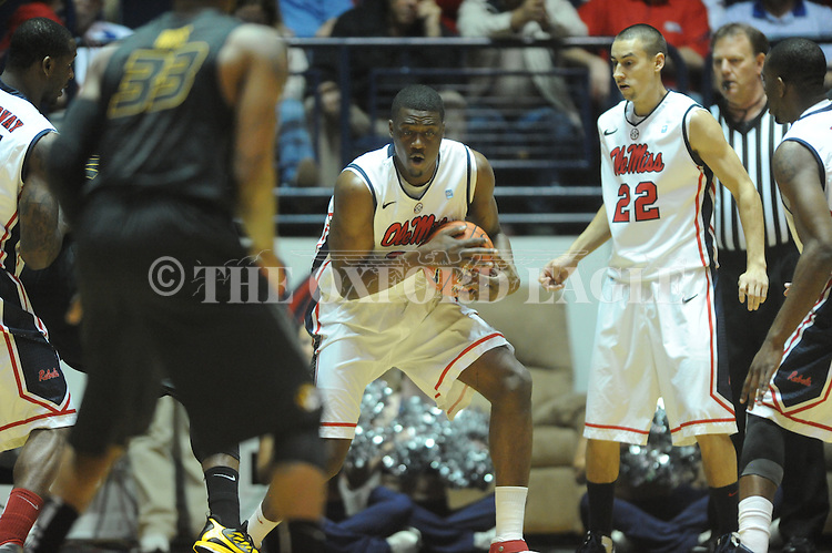 "Ole Miss' Reginald Buckner (23) vs. Missouri at the C.M. ""Tad"" Smith Coliseum on Saturday, January 12, 2013. Ole Miss defeated #10 ranked Missouri 64-49."