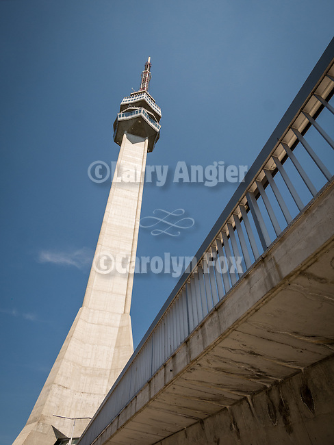 Avala TV broadcasting antenna tower, Belgrade, Serbia
