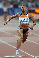 The anchor runner of the winning Great Britain's 4x100m relay team at the Sainsbury Anniversary Games, Olympic Stadium, London England, Friday 26th July 2013-Copyright owned by Jeff Thomas Photography-www.jaypics.photoshelter.com-07837 386244. No pictures must be copied or downloaded without the authorisation of the copyright owner.