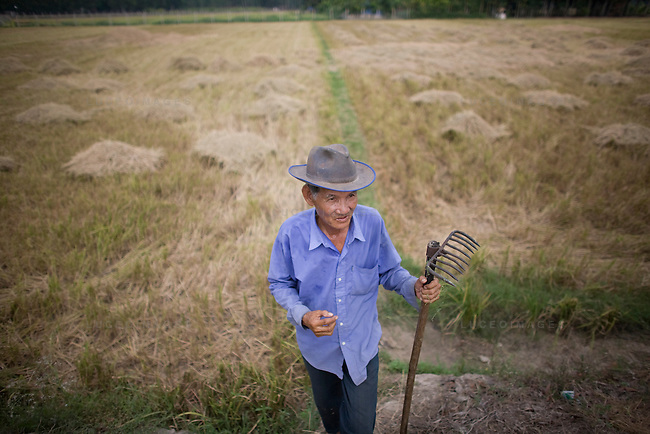 A Vietnamese man tends to his fields in Tay Ninh, Vietnam.