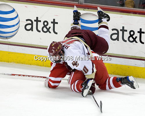 David Warsofsky (Boston University - 5), Jimmy Hayes (Boston College - 10)  - The Boston University Terriers defeated the Boston College Eagles 3-1 at Kelley Rink in Conte Forum in Chestnut Hill, Massachusetts.