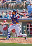 15 March 2016: Houston Astros infielder Marwin Gonzalez in action during a Spring Training pre-season game against the Washington Nationals at Osceola County Stadium in Kissimmee, Florida. The Astros fell to the Nationals 6-4 in Grapefruit League play. Mandatory Credit: Ed Wolfstein Photo *** RAW (NEF) Image File Available ***