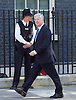 Cabinet meeting arrivals <br /> Downing Street, London, Great Britain <br /> 19th July 2016 <br /> <br /> New members of the Cabinet <br /> arriving ahead of the first cabinet meeting chaired by Theresa May <br /> <br /> <br /> Michael Fallon <br /> Defence<br /> <br /> Photograph by Elliott Franks <br /> Image licensed to Elliott Franks Photography Services
