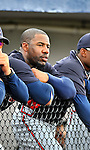 6 March 2011: Atlanta Braves' outfielder Jason Heyward watches play from the dugout during a Spring Training game against the Washington Nationals at Space Coast Stadium in Viera, Florida. The Braves shut out the Nationals 5-0 in Grapefruit League action. Mandatory Credit: Ed Wolfstein Photo