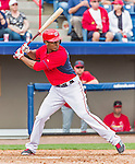 7 March 2015: Washington Nationals outfielder Michael Taylor in Spring Training action against the St. Louis Cardinals at Space Coast Stadium in Viera, Florida. The Nationals rallied to defeat the Cardinals 6-5 in Grapefruit League play. Mandatory Credit: Ed Wolfstein Photo *** RAW (NEF) Image File Available ***