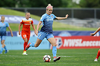 Piscataway, NJ - Saturday May 20, 2017: Nikki Stanton during a regular season National Women's Soccer League (NWSL) match between Sky Blue FC and the Houston Dash at Yurcak Field.  Sky Blue defeated Houston, 2-1.