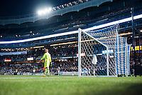 BRONX, NY - Wednesday April 27, 2016: New York City FC ties Montreal Impact 1-1 at home at Yankee Stadium in regular season MLS play.