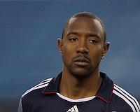New England Revolution defender Cory Gibbs (12).  The New England Revolution drew FC Dallas 1-1, at Gillette Stadium on May 1, 2010
