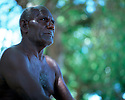 Elias Ionnie, elder of the shark calling community..Kontu, New Ireland Province, Papua New Guinea;