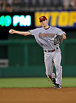 10 July 2008: Arizona Diamondbacks' shortstop Stephen Drew in action against the Washington Nationals at Nationals Park in Washington, DC. The Diamondbacks defeated the Nationals 7-5 in 11 innings to take the rubber match of their 3-game series in the Nation's Capitol...Mandatory Photo Credit: Ed Wolfstein Photo