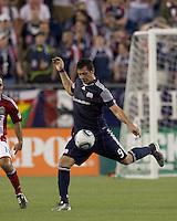 New England Revolution forward Milton Caraglio (9). In a Major League Soccer (MLS) match, Chivas USA defeated the New England Revolution, 3-2, at Gillette Stadium on August 6, 2011.