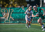 30 March 2016: University of Vermont Catamount Midfielder Alison Bolt, a Junior from Tully, NY, in second half action against the Manhattan College Jaspers at Virtue Field in Burlington, Vermont. The Lady Cats defeated the Jaspers 11-5 in non-conference play. Mandatory Credit: Ed Wolfstein Photo *** RAW (NEF) Image File Available ***