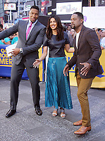 NEW YORK, NY-September 23: Michael Strahan, Blair Underwood and Priyanka Chopra at Good Morning America  to talk about new season of Quantico in New York. September 23, 2016. Credit:RW/MediaPunch
