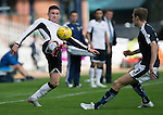 Dundee v St Johnstone...15.08.15  SPFL   Dens Park, Dundee<br /> Michael O'Halloran and Kevin Holt<br /> Picture by Graeme Hart.<br /> Copyright Perthshire Picture Agency<br /> Tel: 01738 623350  Mobile: 07990 594431