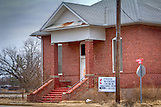 Church, Ghost Town, Oklahoma, Old buildings, Picher, Religious Buildings, Ruins, United States, Winter
