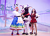 Jack and the Beanstalk <br /> by Susie McKenna with music by Steven Edis <br /> at the Hackney Empire, London, Great Britain <br /> press photocall <br /> 25th November 2015  <br /> <br /> Clive Rowe as Dame Daisy Trott<br /> <br /> Debbie Kurup as Jack <br /> <br /> <br /> <br /> Photograph by Elliott Franks <br /> Image licensed to Elliott Franks Photography Services