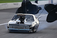 Aug 31, 2014; Clermont, IN, USA; NHRA pro mod driver Steven Whiteley during qualifying for the US Nationals at Lucas Oil Raceway. Mandatory Credit: Mark J. Rebilas-USA TODAY Sports