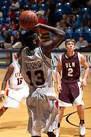 SAN ANTONIO, TX - JANUARY 14, 2006: The University of Louisiana Monroe Warhawks vs. The University of Texas at San Antonio Roadrunners Men's Basketball at the UTSA Convocation Center. (Photo by Jeff Huehn)
