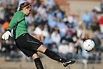 27 November 2009: North Carolina's Ashlyn Harris. The University of North Carolina Tar Heels defeated the Wake Forest University Demon Deacons 5-2 at Fetzer Field in Chapel Hill, North Carolina in an NCAA Division I Women's Soccer Tournament Quarterfinal game.
