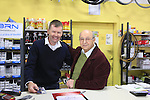 Cyclefile photographer pictured with company founder Irio Tommassini still working at 84 in the Tommasini factory based in Grosseto, Tuscany, Italy 6th March 2017.<br /> Picture: Barbara Tommasini | Newsfile<br /> <br /> <br /> All photos usage must carry mandatory copyright credit (&copy; Newsfile | Eoin Clarke)
