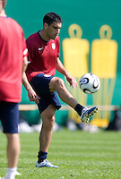 USA's Claudio Reyna during practice in Hamburg, Germany, for the 2006 World Cup, June, 9, 2006.
