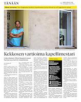 Helsingin Sanomat (leading Finnish daily) portraying the Hungarian-Finnish conductor Tibor Bog&aacute;nyi, September 2016<br /> Photos: Martin Fejer