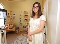 NWA Democrat-Gazette/ANDY SHUPE<br /> Stacie Bloomfield stands her son's room that she decorated Saturday, Aug. 13, 2016, in her home in Springdale.