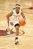 9 November 2006: Stanford Cardinal Markisha Coleman during Stanford's 88-61 win in the first round of the preseason Women's National Invitation Tournament against Loyola Marymount Lions at Maples Pavilion in Stanford, CA.