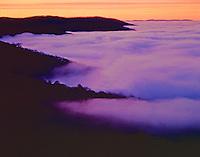 Foggy Ridges, Great Smoky Mountains National Park, North Carolina, Sunrise, January View into North Carolina Appalachian Mountains
