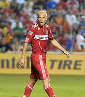 Chicago midfielder Freddie Ljungberg (8).  The Chicago Fire tied the New York Red Bulls 0-0 at Toyota Park in Bridgeview, IL on August 8, 2010