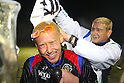 (L to R) Takanori Sugeno (Reysol),  GKSidmar GK Coach (Reysol), December 3, 2011 - Football : 2011 J.LEAGUE Division 1, Kashiwa Reysol Championship Ceremony at Hitachi Kashiwa Soccer Stadium, Chiba, Japan. (Photo by Daiju Kitamura/AFLO SPORT) [1045]