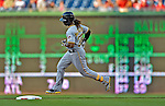 17 May 2012: Pittsburgh Pirates outfielder Andrew McCutchen rounds the bases after hitting a home run against the Washington Nationals at Nationals Park in Washington, DC. The Pirates defeated the Nationals 5-3 in the second game of their 2-game series. Mandatory Credit: Ed Wolfstein Photo
