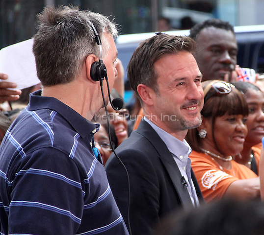July 23,  2012 David Arquette at Good Morning  America to talk about new Travel Channel TV show Mile High and his work with @EcoMom a initiative to feed hungry children  in New York City.Credit:© RW/MediaPunch Inc.