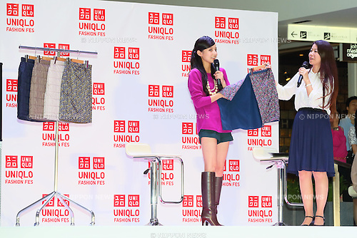 "Becky, Sep 23, 2013 : Japanese television personality Becky attends a event ""UNIQLO Fashion Festival"" in Tokyo on September 23, 2013. (Photo by Yohei Osada/AFLO)"